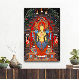 buddhism posters NZ - Home Decor Nordic Style Poster Prints Sakyamuni And Arhat Thangka Tibet Buddhism Buddha Canvas Painting Wall Art Modular Picture