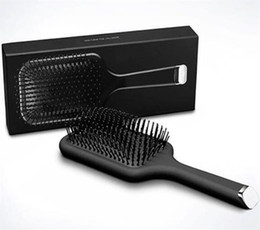 Wholesale paddle for sale - Group buy New Arrival Hot Brush Professional Paddle Comb Hot Brush for Hair Styling Ceramic Hair Straightener Brush