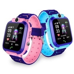 Wholesale mobile phone tracking resale online - K10 Children students fashion multi function phone watch kids smartwatch mobile positioning intelligent reminder two waycall tracking alarm