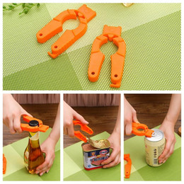 multi function bottle opener can UK - Multi Function Bottle Opener Plastic Can Opener Creative Jar Opener Outdoor Camp Beverage Simple Bottle Openers Bar Kitchen Tool VT0332