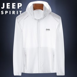 Wholesale jeep jackets coats resale online – GIJAL summer JEEP new clothing Clothes clothesTop sunscreen clothes loose thin skin jacket trendy men s top sunscreen clothing men s coat