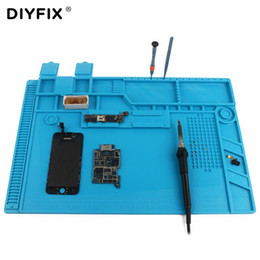Wholesale maintenance platform resale online - DIYFIX S x318mm Silicone Pad Desk Work Mat Heat Insulation Maintenance Platform for BGA PCB Soldering Repair Tool