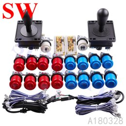american kits NZ - Jamma Arcade Cabinet DIY Kits for Zero Delay USB Arcade controller To PC Connection American style Joystick 4 8 way Push Buttons