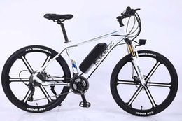 mountain alloys NZ - White 36V350W 10AH lithium battery 26 inch aluminum alloy frame electric vehicle AKEZ mountain bike adult variable speed power bicycle