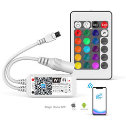 Wholesale CRESTECH WI-FI Smart RGB Controller for LED Strip Lights, More 64 LED Strip Collaborations, Dimmable Colors, Sunset Alarm Clock