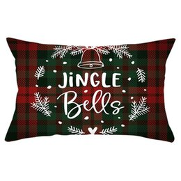 christmas pillows Australia - Christmas Plaid Hold Pillow Case Cotton Cushion Cover Christmas Snow Stripe Pillow Cover Fashion Sitting Room Sofa Decoration DWA705