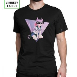 girl sexy shirts UK - man's cat girl sad japanese cute sexy vaportrash comic t-shirts short sleeve tops purified cotton tees plus size t shirt