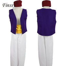 cosplay costume aladdin NZ - Halloween Adult man Party Costumes Movie Aladdin Costume Cosplay Prince Outfit Cosplay Aladdin Fancy Dr Adam Prince Costume