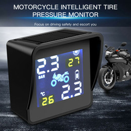 Discount wireless tires pressure Solar Motorcycle Wireless TPMS Tire Pressure Monitor System External Sensors