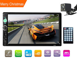 "Double Din Stereo,car 7"" In-Dash Touchscreen Stereo with Bluetooth Rear View Camera FM Tuner HD Radio Fit for 12V Voltage (No DVD & GPS Navi on Sale"