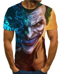 clown shirts 2020 - 2020 popular 3D printing personalized fashion clown t-shirt men's casual men's fashion short sleeve handsome t