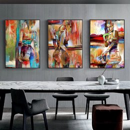 sex woman art NZ - Abstract Poster Wall Art Canvas Painting Sex Figure Women Oil Painting Fashion Pictures For Home Living Room Bedroom Girls Decor
