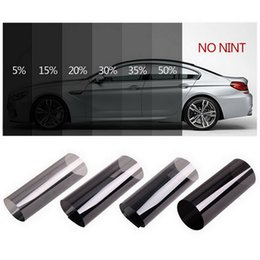tints for cars 2020 - 300x50cm Black Car Window Tint Film Roll Glass Cars Auto Solar Protection Summer For Car Side Window Home Glass With Scr