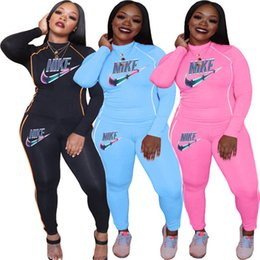 Wholesale american sports clothing for sale – designer Women Clothes Designer Brand Sweatsuit Piece Set Hoodies Pants Sports Suit Fall Winter Sportswear Long Sleeve Tracksuit Letter Suit