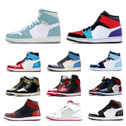 Wholesale men day socks online – funny With Socks jumpman1 Men s womens basketball shoes Turbo green multi color Phantom Fearless UNC Obsidian mens trainers sports