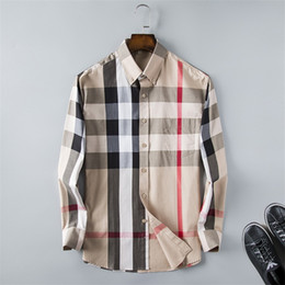 Wholesale dress shirt mens for sale - Group buy Brand Men s Business Casual shirt mens long sleeve striped slim fit camisa masculina social male shirts new fashion designer Plaid shirt