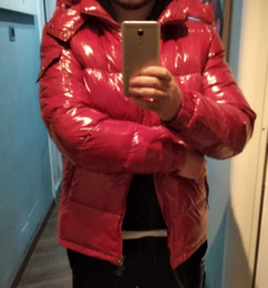 Wholesale men's down jackets for sale - Group buy 20SS Mens Jacket Coat Hooded Autumn Winter Windbreaker Coat Down Thick Hoodie Outwear Luminous Jackets Asian Size Men s Clothing