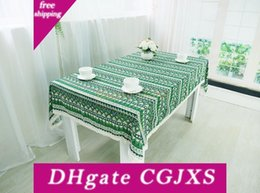 print tablecloths wholesale Australia - Chinoiserie National Style Table Cloth 3 Colors Vintage Printing Table Factory Price 100 *140cm Tablecloth For Home Decor