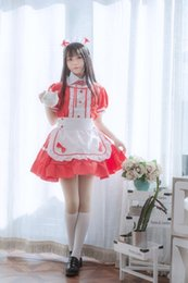 Wholesale plus size maid cosplay for sale - Group buy WUGY8 Plus size black Formal white short sleeved maid cosplay and adult maid clothing dress Princess dress dress