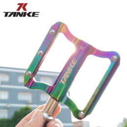 Wholesale MTB bicycle pedals TANKE ultralight aluminum alloy colorful Sealed bearing mountain bike parts High-Strength Road foot pedal