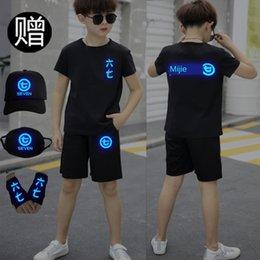 Wholesale assassins t shirt online – design tDzZ7 PSmK Wu Liuqi same T shirt men s Wu Liuqi children s student trendy clothes Assassin same short T shirt shorts pants suit shorts s