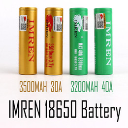 Wholesale 100% High Quality IMR 18650 Battery 3500mAh 3.7V 30A 18650 Batteries Rechargable Lithium Batteries Fedex Free Shipping