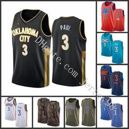 Wholesale thunder shirt online – design Oklahoma City Thunder men Chris Paul Blue Christmas Day Stitched NBA Swingman Jersey