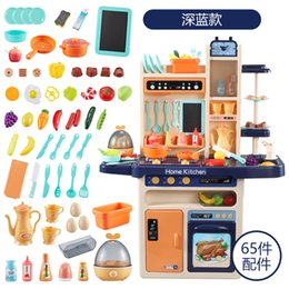 toys cooking UK - Child kitchen toy simulate water spray food accessories toy simulate cooking fun puzzle removable play house