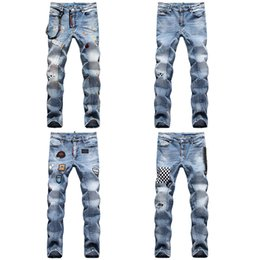 Wholesale rock revival for sale - Group buy High Quality Mens Designer Casual Straight rock revival D2 Jeans Retro Slim Skinny Jeans Fashion Luxury Ripped Men Hip Hop Denim Pants