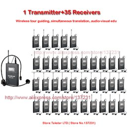 takstar uhf NZ - NEW Takstar WTG-500 WTG 500 UHF PLL Wireless Acoustic Transmission System 1 Transmitter+35 Receivers+1 Headworn MIC+35 Earphone