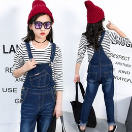 Wholesale 2020 New Kids Denim Overall for Girls Children Autumn Suspenders Pencil Jeans Kids Jumpsuit Girls Denim Overalls High Quality