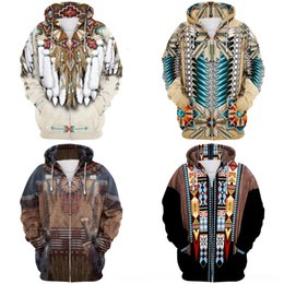 Wholesale indians clothes online – design LfI9g pYD D printing Indian cospaly Digital couple sweater printing Indian cospaly sweater D Clothing Digital clothing zipper couple zipp