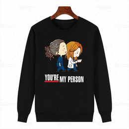 Wholesale nurse hoodie for sale – custom You Are My Person Funny Sweatershirt Greys Anatomy Aesthetic Sweatershirt Hoodie for Friend Nurse Gift Drop Shipping