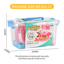 toys cooking UK - Hot style mini kids cooking box cookware kitchen toys food accessories random toys boys and girls Christmas presents