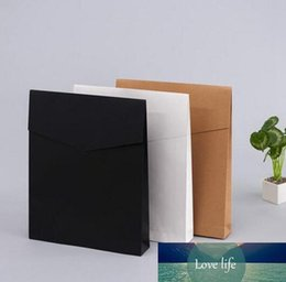 packaging for scarves NZ - 500pcs lot Kraft Paper Envelope Gift Boxes Present Package Bag For Book Scarf Clothes Document Wedding Favor Decoration