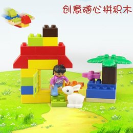 brick block house Australia - Big Particle Building Blocks DIY Puzzle Children Toy Creative Technic Assembly House Cartoon Figure Gift For Baby Intelligence Bricks