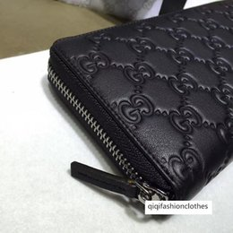 boxing bags 2020 - Celebrity Letter Ribbon Embossing Zipper Wallet Cowhide Leather Black Man Woman 307987 Long Purse Clutch discount boxing