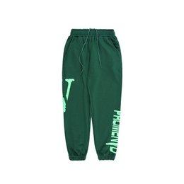 Wholesale women sweatpants resale online – Vlone Mens Pants Fashion Sweatpants Joggers Men Women High Quality Sport Jogging Pants Beam Foot Trousers Size S XL