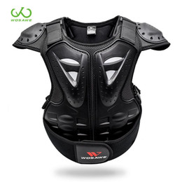 jacket protectors 2020 - WOSAWE Kids' Motorcycle Armor 4-16 Child Guard Sports Jacket Gear Bicycle Snowboard Roller Hockey Ski Back Chest Bo