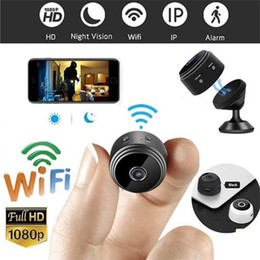 small surveillance cameras NZ - 1080P Full Mini Video Cam WIFI IP Wireless Security Hidden Cameras Indoor Home surveillance Night Vision Small Camcorder A9