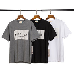 2020 Primavera Estate 6 Fear Of God Sesto raccolta di patch Sticker Tee fredda del pattino a maniche corte maglietta Nebbia Uomo Donna T Shirt Casual