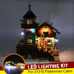building blocks toy store Australia - USB LED Lighting Kit Only for 21310 for Fisherman Cabin Fishing Store Building Blocks Toy Bricks (Not Include the Model )