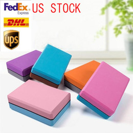 exercise foam blocks Australia - US Stock EVA Waterproof Yoga Blocks Women Pilates Foam Brick Fitness Gym Home Workout Equipment Exercise Accessories FY6154
