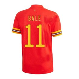 Wholesale star player for sale – custom Top Player WALES Star BALE RAMSEY ALLEN HOME soccer uniform kits soccer jerseys thailand quality football shirts kit maillot de foot