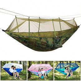 quick beds UK - Sturdy Nylon Mosquito Net Tent Set Hanging Camping Tents Swing Hanging Bed Parachute Hammock Travel Tent Hammock lxJc#