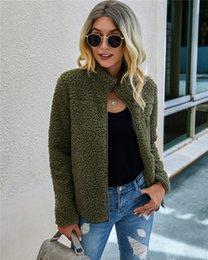 Wholesale zip up bomber jacket resale online – Women s Sherpa Fleece Jacket Faux Fuzzy Long Sleeve Casual Zip Up Bomber Coat with Pockets S XL