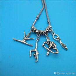 gymnastic charms NZ - Cgjxs Mixed Tibetan Silver Athlete Gymnastics Baseball Player Charms Pendants Jewelry Making Bracelet Necklace Fashion Popular Jewelry Acces