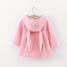 Wholesale 3d coat girl online – oversize Winter autumn baby hoodies sweatshirts kids Long sleeve D Rabbit ear coat Casual Outerwear girl clothing