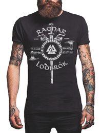Wholesale odin god for sale – custom 2020 New Fashion Brand Clothing Ragnar Lodbrok Viking T Shirt Odin Norse God Men T Shirts Round Neck Clothes