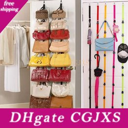 plastic bathroom shelves UK - Adjustable Storage Holders And Racks For Bag Clothing After Door Hanging Purse Hook Rack Rope Lanyard Box Pack Hh7 -1025